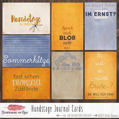 Digitale Downloads - Hundstage 4x6 Journaling Karten - ein Designerstück von Rikki_Donovan bei DaWanda