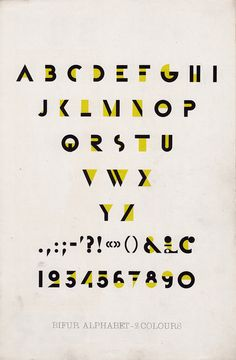 •Ended up designing his own typefaces (Bifur) a typeface that suggested the letters but didn't actually have them there  •Focused on a total integration of word and image