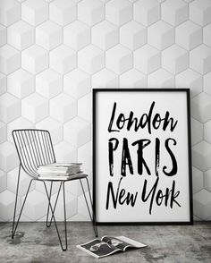 City Art Print London Paris New York  Wall Art by PartyInked