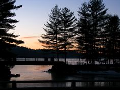 Sunrise on Highland Lake in Bridgton Maine - photo copyrighted by H. Joie Crockett