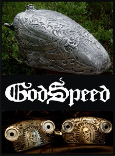 Awesome motorcycle engraving. Chrome all you want to, still never as cool as this.