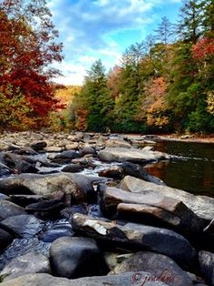 River Rocks - Upshur County WV - By Janna Vaught Adams