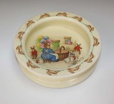Bunnykins baby bowl ~ I remember mine, and think this may have been the pattern :)