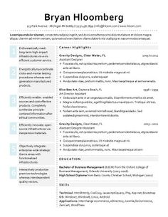 Top  Best Resume Templates Ever  Free For Microsoft Word  Good
