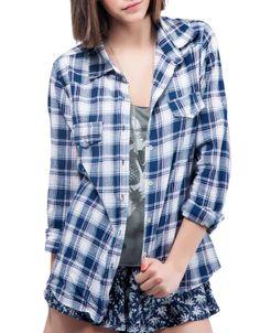 #Camisa manga larga cuadros Double Agent 24.99 € www.doubleagent.es #fashion #ropa