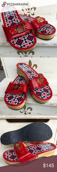 New Tory Burch Navy Red White Nautical Slip On 6 New without Tags - If you have any questions or concerns, please let me know. Thank you for looking at my listing. Have a blessed day! Tory Burch Shoes Sandals