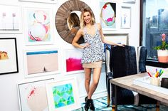 An Inside Look at Whitney Port's Chic New Office via @domainehome