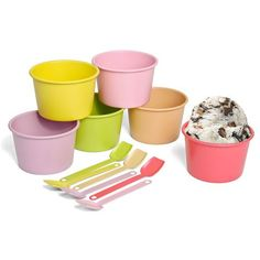 Gelato Cup Set Gelato Bar, Stainless Steel Cups, Dessert Cups, Buy Gifts Online, Retro Party, Educational Toys For Kids, Cupping Set, Food Storage Containers, Christmas Gifts For Kids
