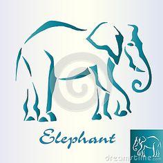 Abstract elephant walks