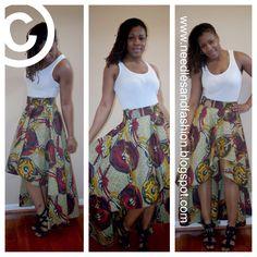 high low Ankara skirt