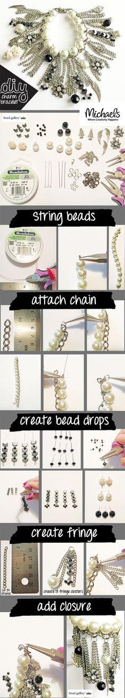 Create a trendy chain fringe bracelet following these few easy steps