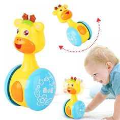 Children Baby Tumbler Chick Toys Learning Education Tumbler Birthday Gifts Y
