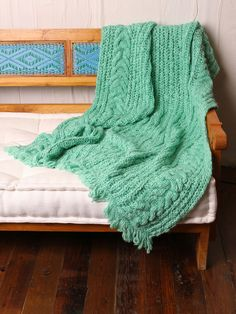 Free People Cable Knit Throw -- what a beautiful yarn color