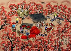chinese folk art paintings - Google Search