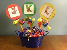 Kindergarten graduation centerpiece my-creations