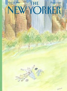 """The New Yorker - Monday, May 18, 1998 - Issue # 3798 - Vol. 74 - N° 12 - Cover """"Bien-Etre"""" by """"Sempé"""" - Jean-Jacques Sempé"""