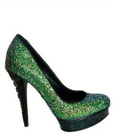 Take a look at this Green Keedan Glitter Pump by Rachel Rachel Roy on #zulily today!