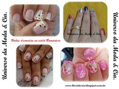 Confira no blog Universo da Moda & Cia., ideias inspiradoras de unhas decoradas ao estilo Romântico.