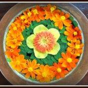 the farm at san benito mandala floral arrangement