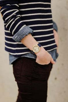 Britta Nickel  Love some denim and stripes combos