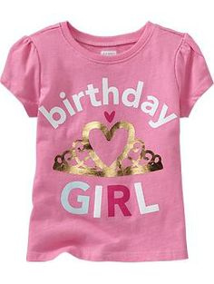 Shop fun graphic tees for your little girl at Old Navy. From various styles and designs, Old Navy is the only place you need to upgrade her wardrobe. Navy Birthday, Birthday Shirts, Girl Birthday, Little Girl Fashion, Kids Fashion, Cool Graphic Tees, My Beautiful Daughter, Girls Tees, Baby Kids Clothes