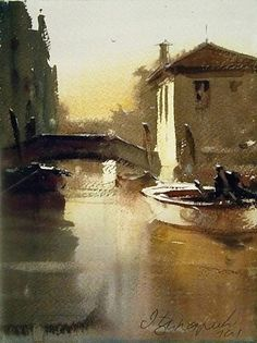 dusan-djukaric-canal-in-venice-watercolor-32x24-cm