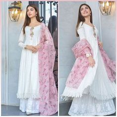 Simple Pakistani Dresses, Indian Gowns Dresses, Indian Fashion Dresses, Dress Indian Style, Pakistani Dress Design, Indian Designer Outfits, Pakistani Outfits, Indian Outfits, Designer Dresses