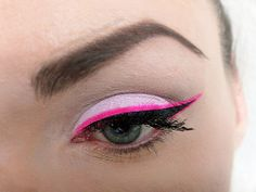 A touch of pink eyeliner