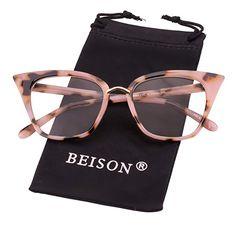 712f62cb0 Beison Womens Cat Eye Mod Fashion Eyeglasses Frame Clear Lens - Now Fashion  Shop