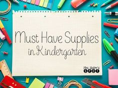 What are some must have supplies for a Kindergarten classroom? Come check out my post where I tell you all about what I buy for my room!!: