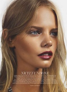 Marloes Horst by Jonas Bresnan for Marie Claire UK May 2015 1