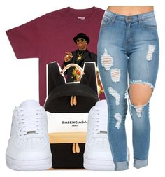 """""""simple. """" by trap-ical ❤ liked on Polyvore featuring Balenciaga and NIKE"""