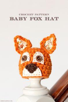 Newborn Fox Hat Crochet Pattern
