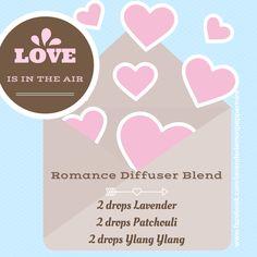 www.facebook.com/lavenderlemonpeppermint  Essential Oil diffuser blend recipe for valentines day - love - romance doterra