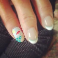 My beach nails...done by my talented daughter.