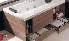 Bathroom Designs Great Bathtubs With Drawers Innovative Bathroom Furniture Ideas Handy Modern Bathtub with Style Modern Small Bathrooms, Modern Bathtub, Modern Bathroom Design, Bathroom Interior Design, Amazing Bathrooms, Bathroom Small, Modern Design, Bathroom Ideas, Bad Inspiration