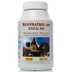 Lessman Resveratrol-100 EGCG-100 - 360 Capsules