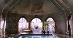 The gorgeous pool from Meet Joe Black