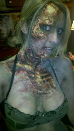 Zombie Makeup with ribcage