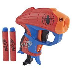 Hasbro NERF Microshots Marvel Spider-Man in Blasters & Foam Play. Marvel Captain America, Nerf Guns For Sale, Overwatch, Star Wars Stormtrooper, Iron Man, Nerf Darts, Hedgehog Movie, Nerf Toys, Man Parts