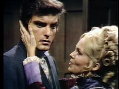 Lara Parker and David Selby as Angelique and Quentin, original Dark Shadows television series