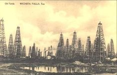 Oil Fields in Wichita Falls, Texas, 1920s