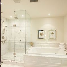 Tan Beadboard Tub And Shower On Same Wall In Master Bathroom Design, Pictures, Remodel, Decor and Ideas - page 72
