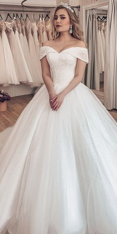 Sparkling Tulle Off-the-shoulder Neckline Ball Gown Wedding Dresses With Rhinestones &; Sparkling Tulle Off-the-shoulder Neckline Ball Gown Wedding Dresses With Rhinestones &; Beau Kochen Sparkling Tulle Off-the-shoulder […] Wedding Dress Train, Luxury Wedding Dress, Princess Wedding Dresses, White Wedding Dresses, Wedding Dress Styles, Bridal Dresses, Tulle Wedding, Wedding Robe, Mermaid Wedding