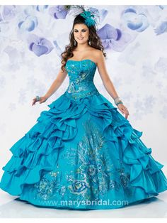 blue peacock dress