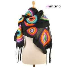 Hey, I found this really awesome Etsy listing at https://www.etsy.com/listing/113777456/artistic-multicolor-nuno-felted-scarf