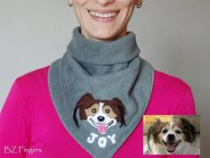 Personalized #Dog Lovers Fleece #Bandana , Neck Warmer, Winter Scarf,  Face Mask