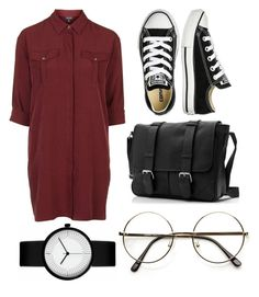 """""""Untitled #202"""" by bandsdestroyamylife on Polyvore featuring Topshop, Converse and ZeroUV"""