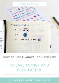 Printable planner icon stickers are a great solution for faster and more efficient planning! Print as many copies as you like, save money and time, and never run out of your favourite stickers again. Create a folder on your computer to store your favourite printable sticker files so you don't waste time searching for them! Find more tips and free printable icon stickers to download. #plannerstickers #plannericonstickers #iconstickers #planning #freeprintablestickers #planneraddict… Bullet Journal October, Bullet Journal Notebook, Bullet Journal Printables, Bullet Journal How To Start A, Journal Template, Bullet Journal Layout, Bullet Journal Inspiration, Journal Ideas, How To Use Planner