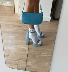 There is 1 tip to buy shoes. Dr Shoes, Hype Shoes, Me Too Shoes, Aesthetic Shoes, Blue Aesthetic, Aesthetic Clothes, Aesthetic Vintage, Fancy Shoes, Pretty Shoes